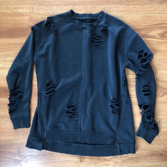109f7d6cd16 Joe s Jeans Tops - Joe s Jeans Lyndon Black Distressed Sweatshirt